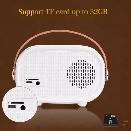 Bluetooth Wireless Portable Mini Speaker Player TF Card Slot For iPhone